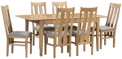 Julian Bowen Cotswold Oak Extending Dining Table and Chairs