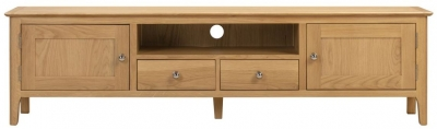 Julian Bowen Cotswold Oak TV Unit