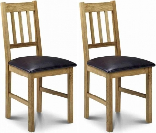 Julian Bowen Coxmoor Oak Dining Chair (Pair)