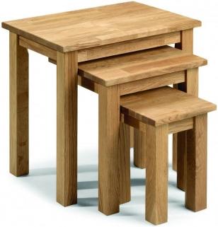 Julian Bowen Coxmoor Oak Nest of Tables