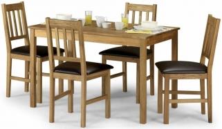 Julian Bowen Coxmoor Oak Rectangular Dining Set with 4 Chair