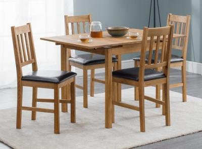 Julian Bowen Coxmoor Oak Extending Dining Table and Chairs