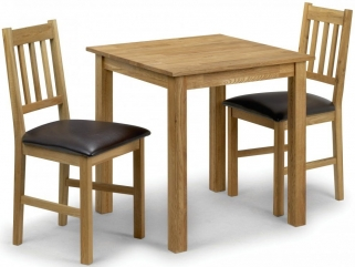 Julian Bowen Coxmoor Oak Square Dining Table and 2 Chairs