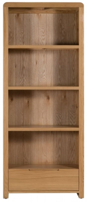 Julian Bowen Curve Oak 1 Drawer Bookcase