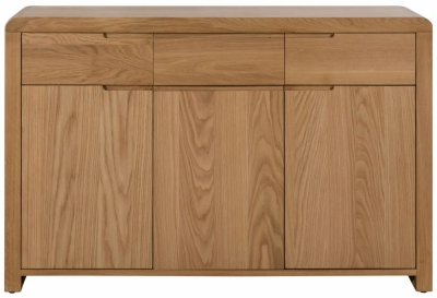 Julian Bowen Curve Oak 3 Door 3 Drawer Sideboard