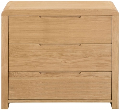 Julian Bowen Curve Oak 3 Drawer Chest