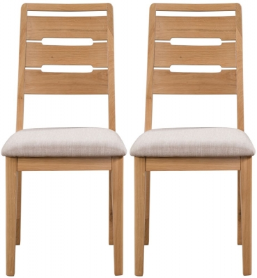 Julian Bowen Curve Oak Dining Chair (Pair)