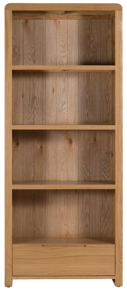 Julian Bowen Curve Oak Bookcase