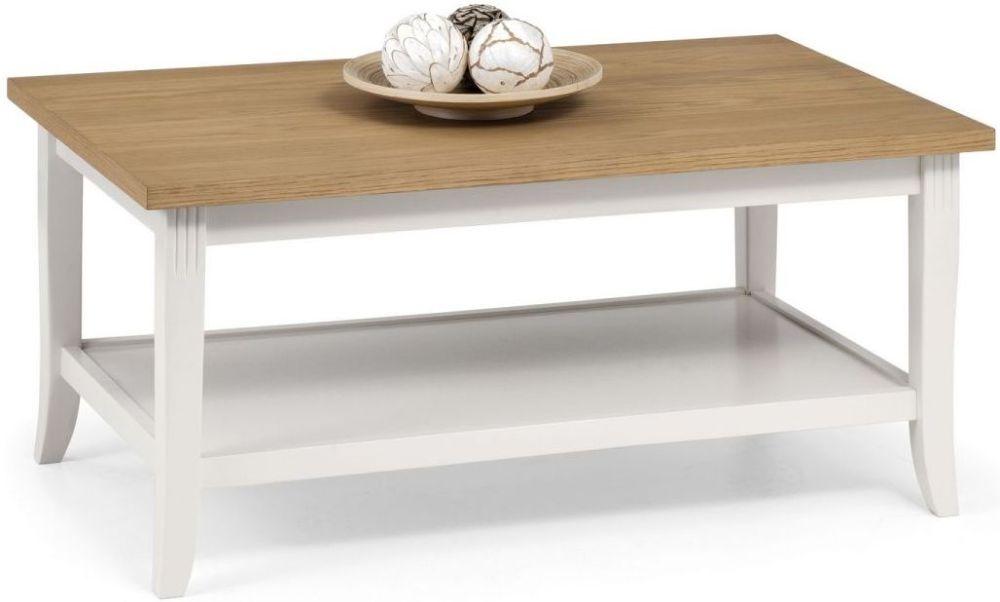 Julian Bowen Davenport Coffee Table - Oak and Painted