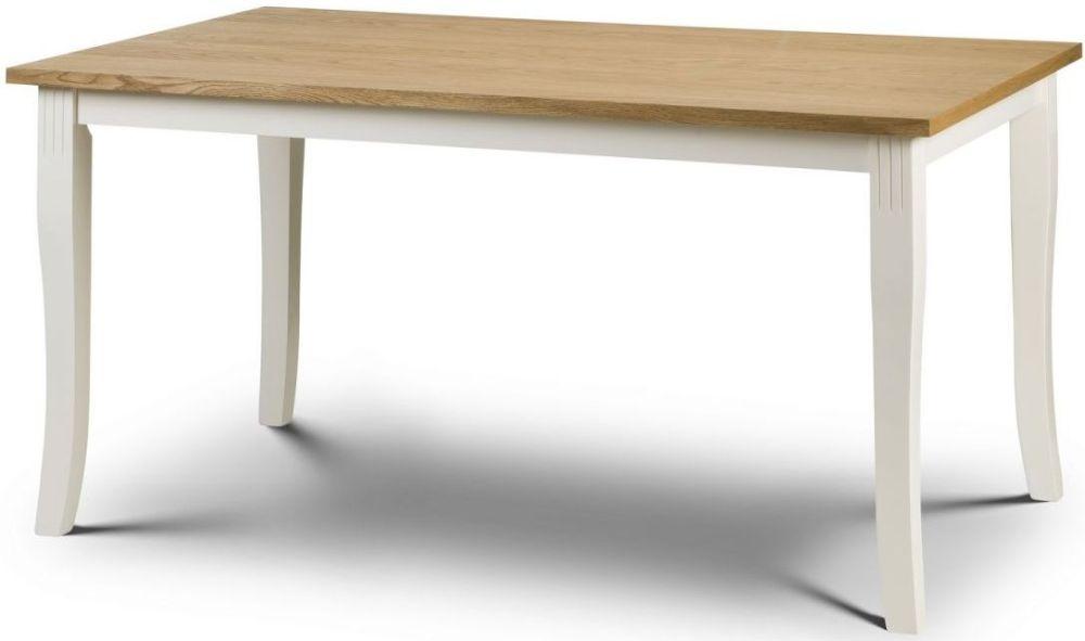 Julian Bowen Davenport Painted Rectangular Fixed Top Dining Table - 150cm