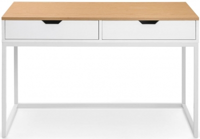 Julian Bowen California Oak and White High Gloss Desk