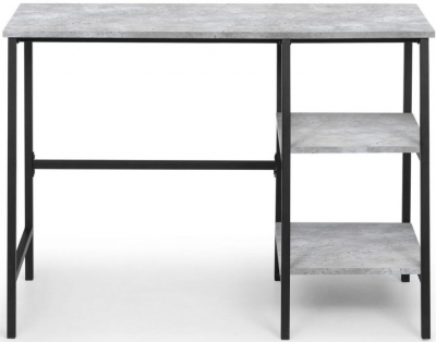 Julian Bowen Staten Concrete Effect Desk