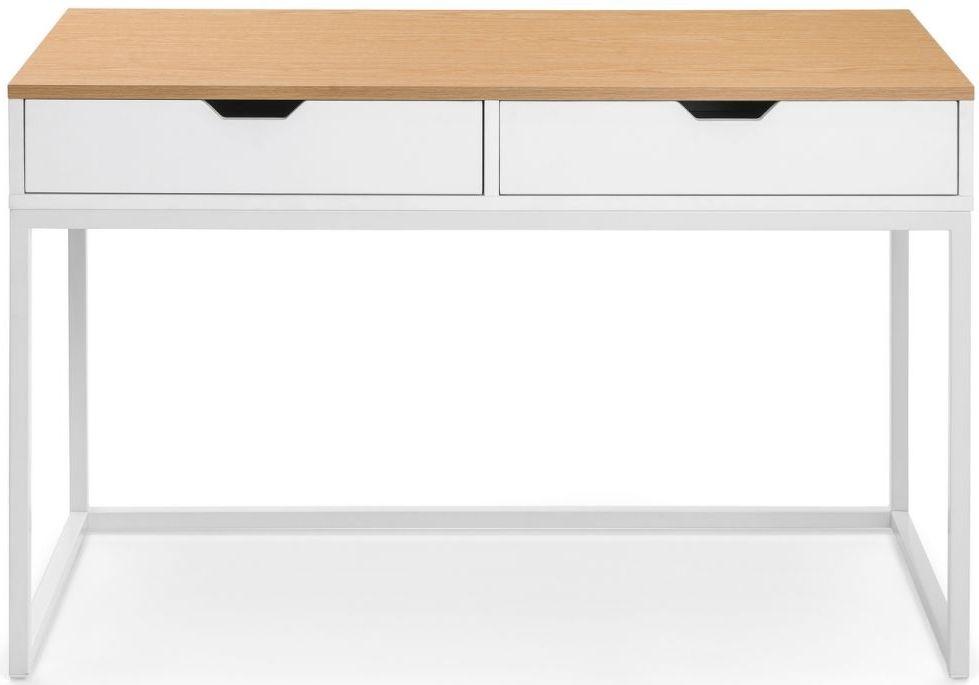 Julian Bowen California Oak and White High Gloss Desk