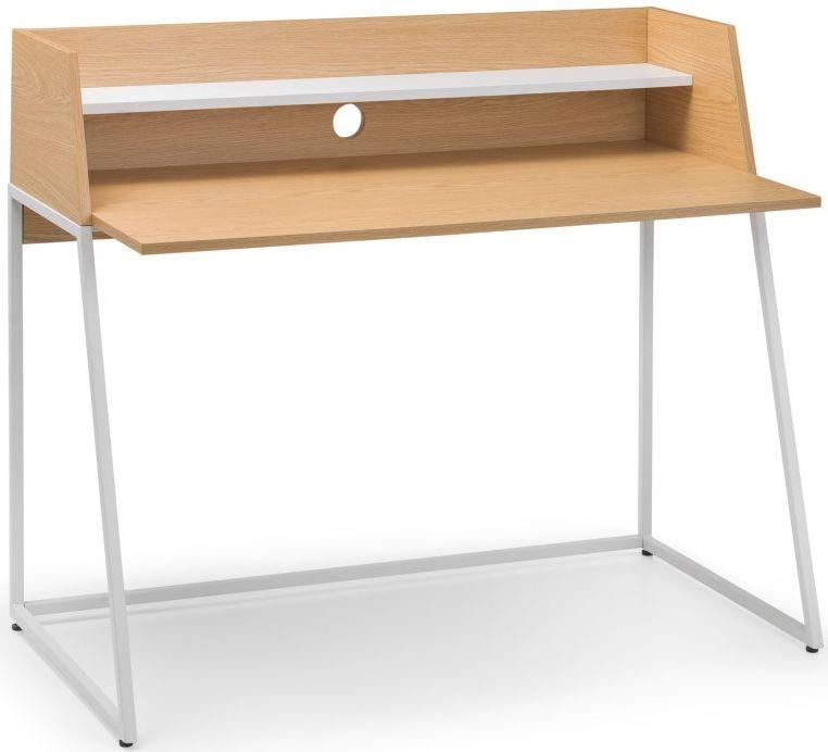 Julian Bowen Palmer Oak and White Desk