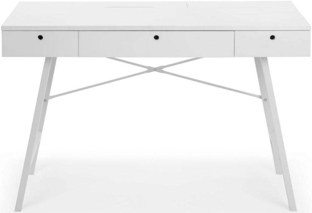 Julian Bowen Trianon White Desk