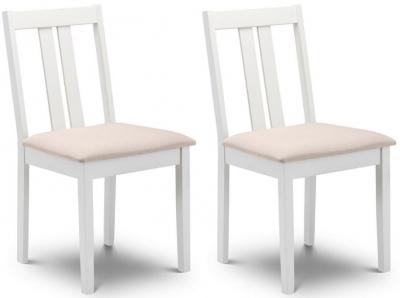 Julian Bowen Rufford Ivory Dining Chair (Pair)