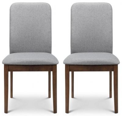 Julian Bowen Berkeley Walnut and Grey Dining Chair (Pair)