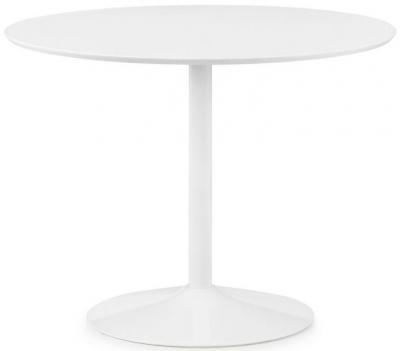 Julian Bowen Blanco White Round Pedestal Dining Table