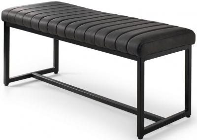 Julian Bowen Soho Black Faux Leather Dining Bench