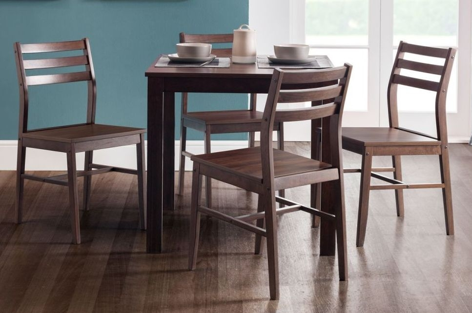 Julian Bowen Monterey Dark Walnut Dining Table and 4 Chairs
