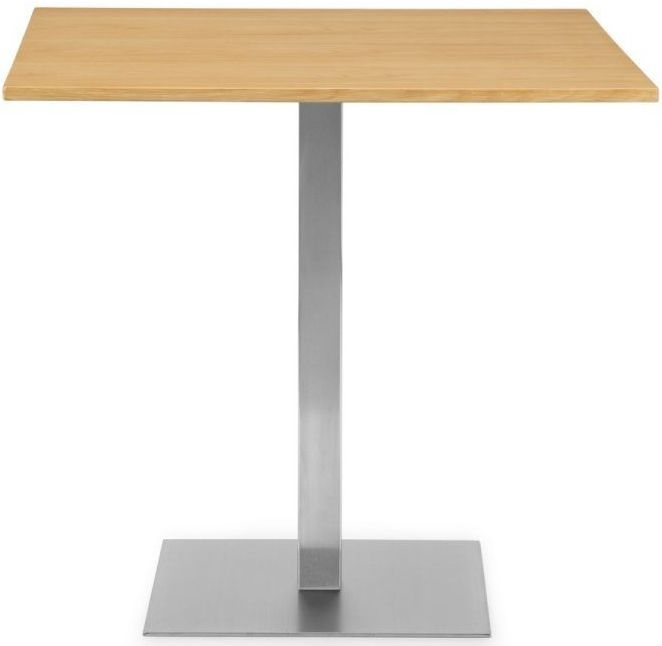 Julian Bowen Pisa Oak Square Pedestal Dining Table