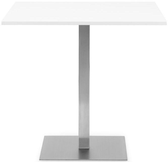 Julian Bowen Pisa White Square Pedestal Dining Table