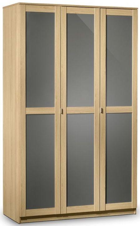Julian Bowen Strada Light Oak 3 Door Wardrobe