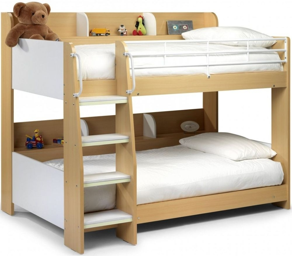 Julian Bowen Domino Maple and White Bunk Bed