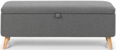 Julian Bowen Astrid Grey Fabric Blanket Box