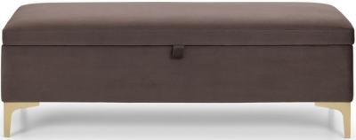Julian Bowen Deco Truffle Velvet Blanket Box