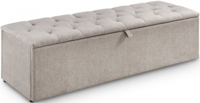Julian Bowen Ravello Mink Chenille Fabric Blanket Box