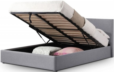 Julian Bowen Rialto Grey Fabric Lift-Up Light Storage Bed
