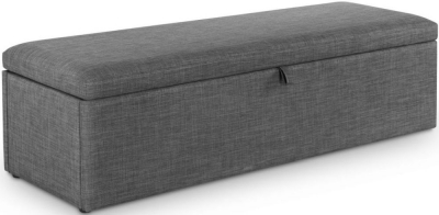 Julian Bowen Sorrento Grey Fabric Blanket Box