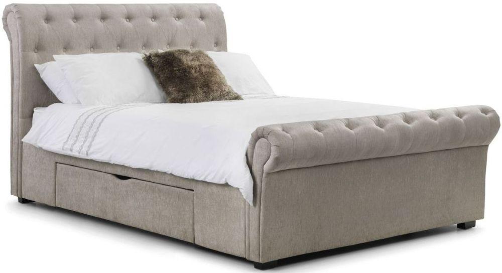 Julian Bowen Ravello Mink Fabric Storage Bed