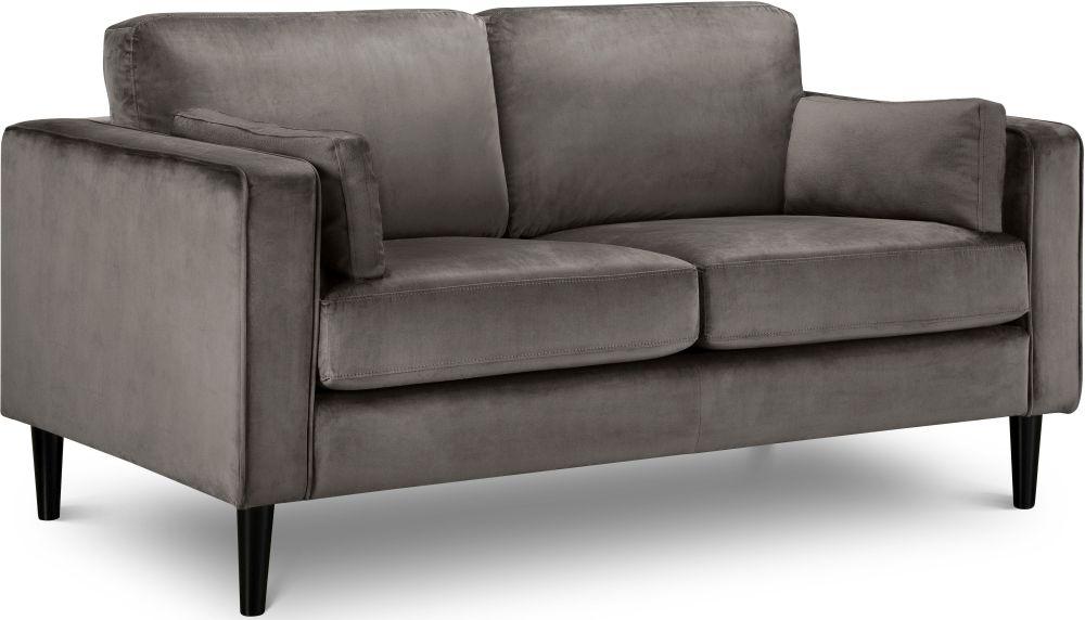 Julian Bowen Hayward Grey Velvet 2 Seater Sofa