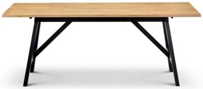 Julian bowen Hockley Oak and Black Dining Table