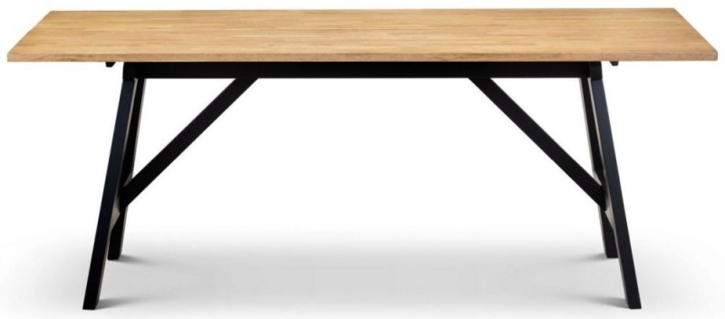 Julian bowen Hockley Oak and Black Dining Table