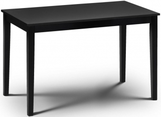 Julian Bowen Hudson Black Dining Table