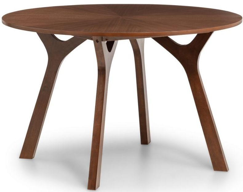 Julian Bowen Huxley Walnut Round Dining Table