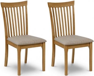 Julian Bowen Ibsen Oak Dining Chair (Pair)