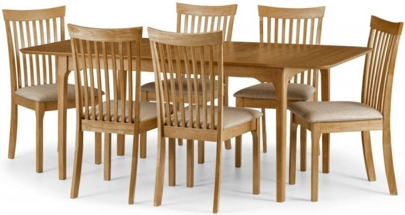 Julian Bowen Ibsen Oak Dining Set - 150cm-190cm Rectangular Extending with 6 Chairs