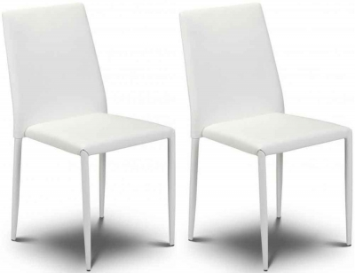 Julian Bowen Jazz Stacking White Dining Chair (Pair)