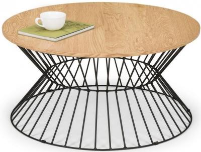 Julian Bowen Jersey Euro Oak Round Wire Coffee Table