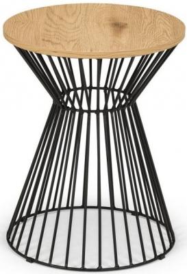 Julian Bowen Jersey Euro Oak Round Wire Lamp Table