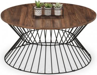 Julian Bowen Jersey Walnut Round Wire Coffee Table