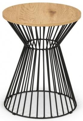 Julian Bowen Jersey Oak Round Lamp Table