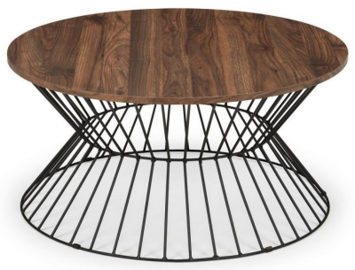 Julian Bowen Jersey Walnut Round Coffee Table