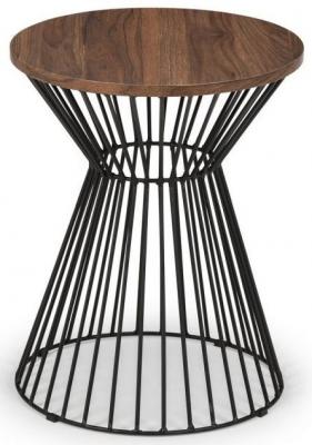 Julian Bowen Jersey Walnut Round Lamp Table