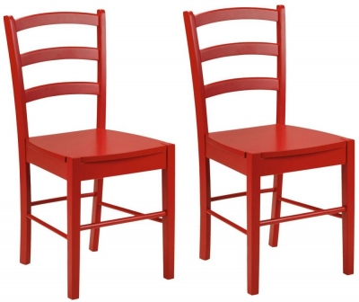 Julian Bowen Breton Red Dining Chair (Pair)