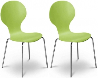 Julian Bowen Keeler Chair - Green Charm (Pair)